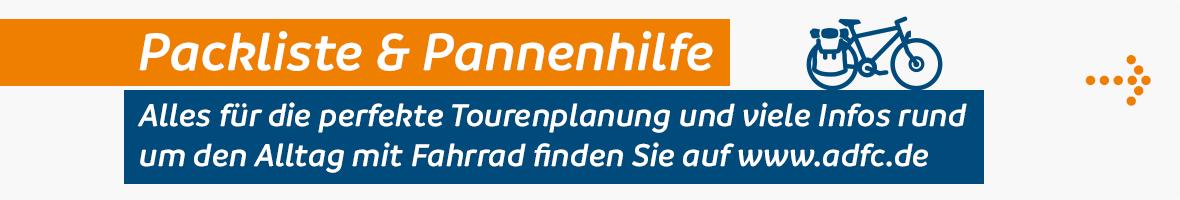 Packliste & Pannenhilfe auf www.adfc.de